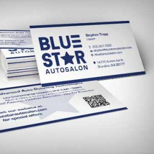 Blue Star Auto Salon Cards & Logo