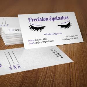 Precision Eyelashes Card & Logo
