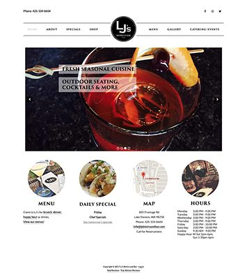 LJ's Bistro and Bar Website Refresh