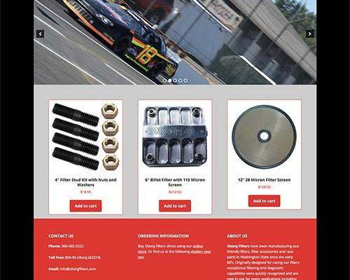 Oberg Filters Website Redesign