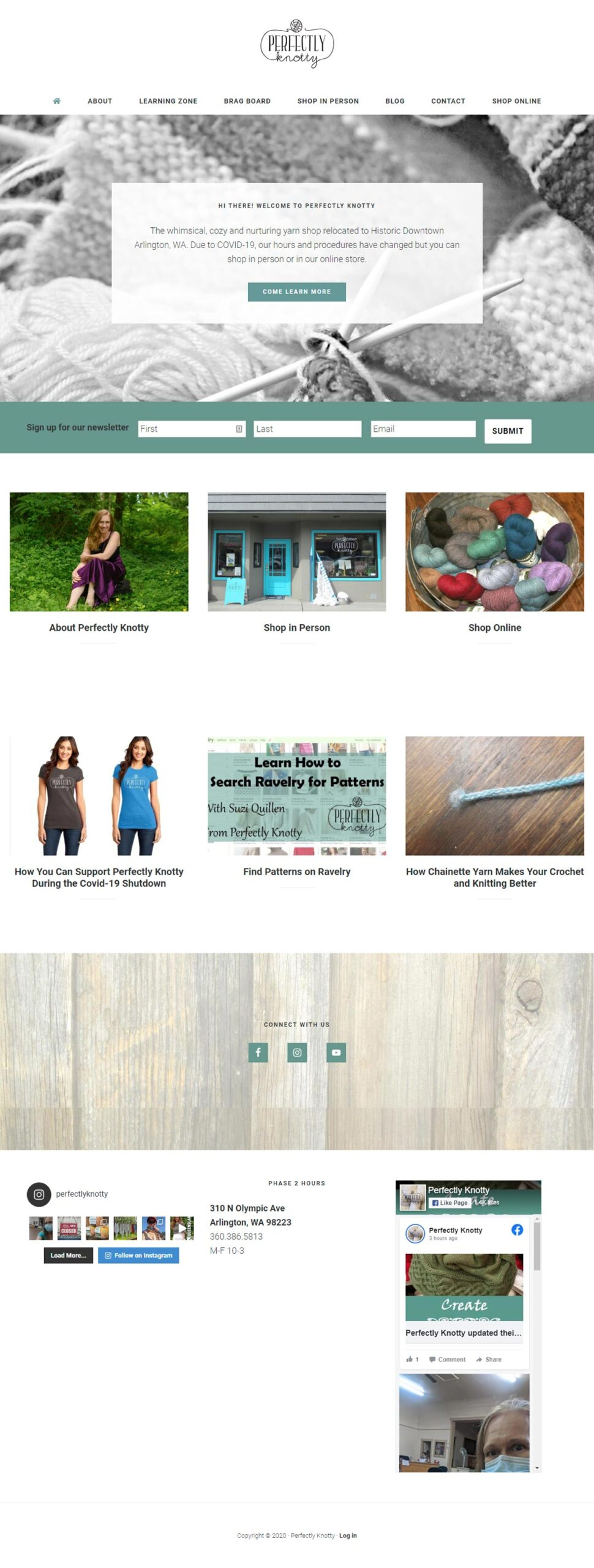 perfectly knotty home page